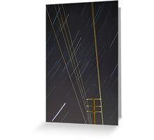 Lines of Light Greeting Card