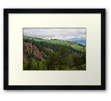 Earth Pyramids at Longomoso Framed Print