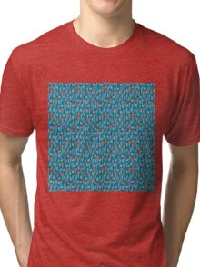 Summer colorful pattern with buds and berries Tri-blend T-Shirt