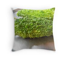 Bitter Melon Throw Pillow