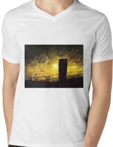 Skyline Storm Mens V-Neck T-Shirt
