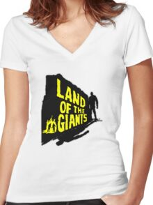 Land Of The Giants Women's Fitted V-Neck T-Shirt