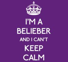 I'm a belieber and I can't keep calm (white) by OhMyDog