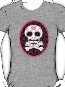 Pink Sugar Skull Vector T-Shirt