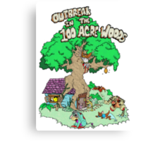 100 Acre Woods Outbreak Canvas Print