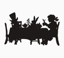 Alice in Wonderland Mad Hatters Tea Party Silhouette by Pip Gerard