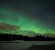 Aurora & the Meteor by Hallvor