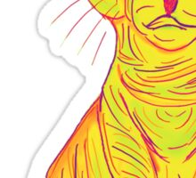 Annoyed and Grumpy Yellow Cat Sticker