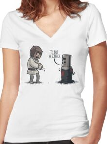 'Tis But a Scratch Women's Fitted V-Neck T-Shirt