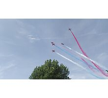 Red Arrows - Nine Photographic Print