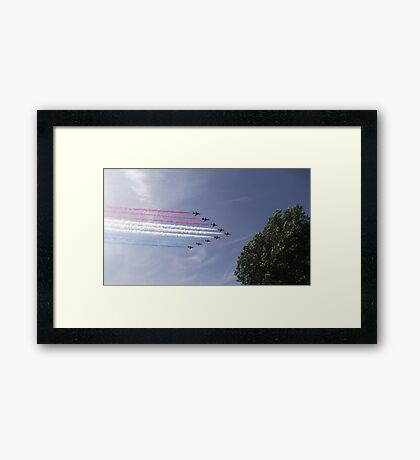 Red Arrows - Ten Framed Print