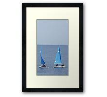 Two Little Boats Framed Print
