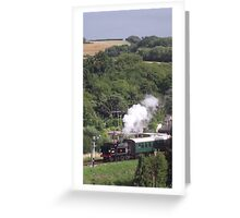 Puffa Train Greeting Card