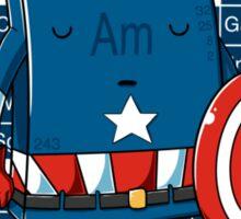Captain Americium Sticker