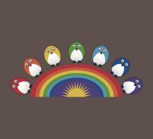 Little Cute Rainbow Birds Baby Tee