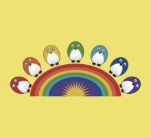 Little Cute Rainbow Birds Kids Clothes