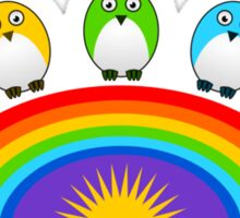 Little Cute Rainbow Birds Sticker