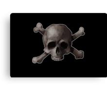 Jolly Roger Skull and Cross Bones Painting Canvas Print