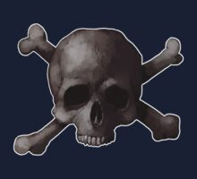 Jolly Roger Skull and Cross Bones Painting One Piece - Short Sleeve