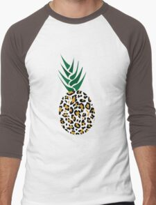 Leopard or Pineapple? Funny illusion Picture Men's Baseball ¾ T-Shirt