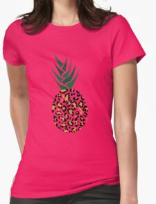 Leopard or Pineapple? Funny illusion Picture Womens Fitted T-Shirt