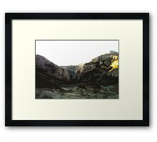Comic Book Mountains Framed Print