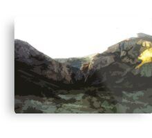 Comic Book Mountains Metal Print