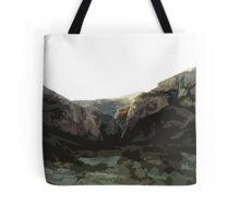 Comic Book Mountains Tote Bag