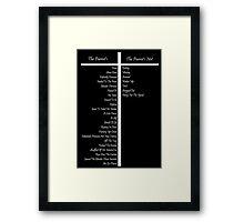 Dead Parrot Chart - Monty Python Framed Print