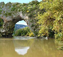 Pont d'Arc - river Ardeche - France by Arie Koene