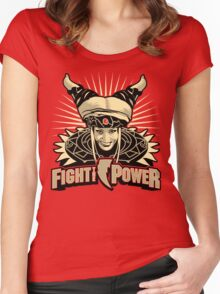Fight the Power! Women's Fitted Scoop T-Shirt