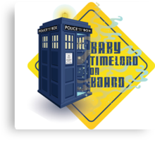 Doctor Who Tardis - Baby Timelord on Board Canvas Print