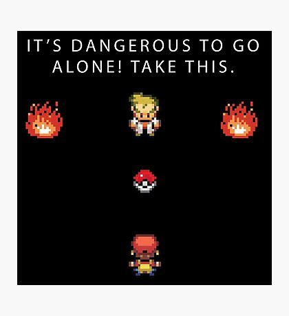 Dangerous to go Alone Photographic Print