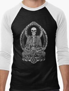 Starving Buddha Weathered Halftone Men's Baseball ¾ T-Shirt