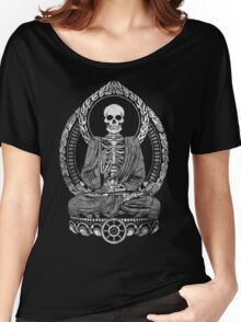 Starving Buddha Weathered Halftone Women's Relaxed Fit T-Shirt