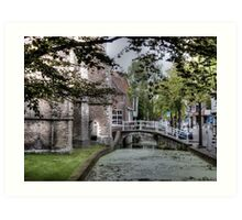 ...old Delft in Holland... 2  Art Print