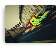 London Call Ambulance Canvas Print