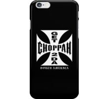 GET 2 DA CHOPPAH (Black) iPhone Case/Skin