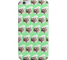 Mint Green Pup Color Pattern iPhone Case/Skin