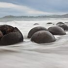 Moeraki Boulders - New Zealand by Kimball Chen