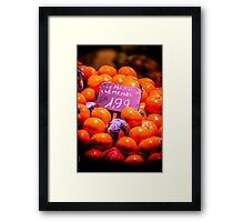 Clementines Framed Print