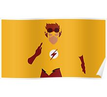 Kid Flash Minimalism  Poster