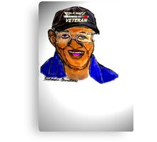 RICHARD OVERTON, 107 YRS. OLD WWII VET Canvas Print
