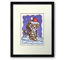 Tiger Christmas Framed Print