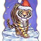 Tiger Christmas Card by Traci VanWagoner