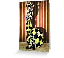 Harlequin Yellow Greeting Card
