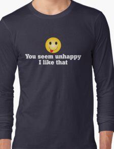 Unhappy Long Sleeve T-Shirt