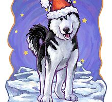 Husky Christmas Card by ImagineThatNYC