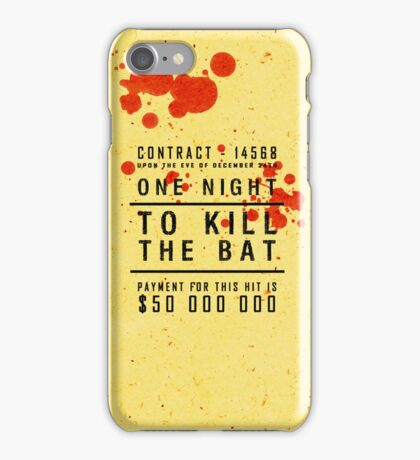 One night to kill the BAT iPhone Case/Skin