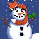 Fox and Snowman Happy Hollydays! by Cherie Balowski